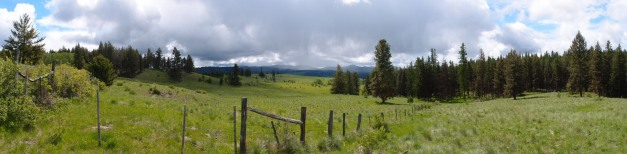 Is this beautiful country or what?  The northern side of this section is the U.S./Canadian border.  Spectacular.